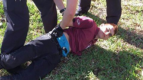 Arrest of Florida school shooting suspect Nikolas Cruz.