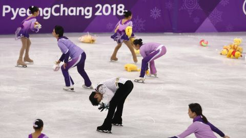 Japan was enthralled by Yuzuru Hanyu, who became the first male figure skater since 1952 to win back-to-back skating golds. At the end of his routine, fans showered the rink with Winnie the Pooh toys, Hanyu's lucky charm.