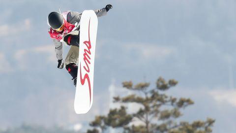 Slovakia's Klaudia Medlova competes in the big-air event.