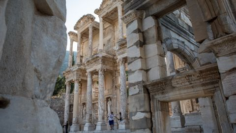 The Library of Celsus in the ancient Greek city of Ephesus in modern day Izmir. Once a key locale for Greece on Asia Minor, the city in western Turkey has origins dating back to the 7th century BC.