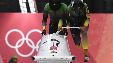 """The Jamaican women bobsled team made their Olympic debut at PyeongChang, 30 years after the men's team captured hearts around the world, inspiring the movie, """"Cool Runnings."""""""