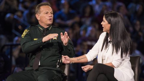 Sheriff Scott Israel and NRA spokeswoman Dana Loesch