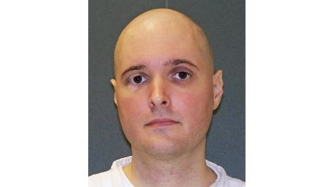 FILE - This undated file photo provided by the Texas Department of Criminal Justice shows death row inmate Thomas Whitaker. The Texas Board of Pardons and Paroles on Tuesday, Feb. 20, 2018, unanimously recommended the death sentence of Whitaker be commuted to life. Whitaker is set for lethal injection Thursday, Feb. 22, for masterminding the fatal shootings of his mother and brother at their suburban Houston home in 2003. (Texas Department of Criminal Justice via AP, File)
