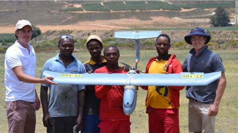 """In South Africa, drone startup <a href=""""https://money.cnn.com/2018/02/15/technology/aerobotics-farm-app-drones/index.html"""" target=""""_blank"""">Aerobotics</a> provides bird's eye surveillance for farmers, with the aim of optimizing crop yields and reducing costs."""