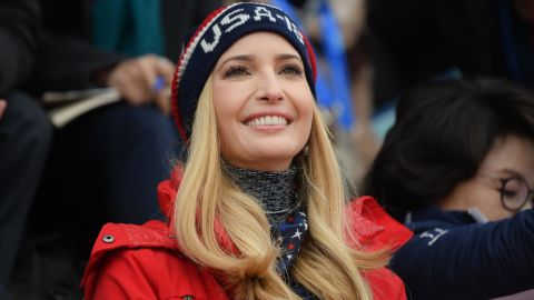 PYEONGCHANG-GUN, SOUTH KOREA - FEBRUARY 24:  Ivanka Trump attends the Snowboard - Men's Big Air Final on February 24, 2018 in Pyeongchang-gun, South Korea. Ivanka Trump is on a four-day visit to South Korea to attend the closing ceremony of the PyeongChang Winter Olympics.  (Photo by Carl Court/Getty Images)