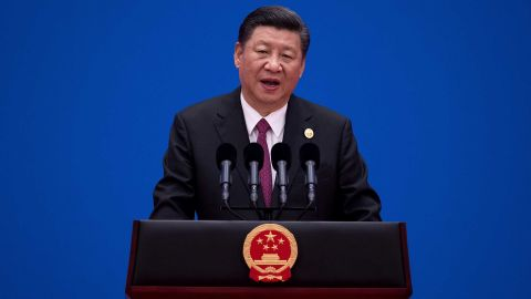 BEIJING, CHINA - MAY 15:  Chinese President Xi Jinping attends a news conference at the end of the Belt and Road Forum for International Cooperation on May 15, 2017 in Beijing, China. The Forum, running from May 14 to 15, is expected to lay the groundwork for Beijing-led infrastructure initiatives aimed at connecting China with Europe, Africa and Asia.  (Photo by Nicolas Asfouri-Pool/Getty Images)