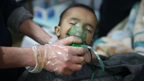 """Syrian American Medical Society says patients suffering exposure to chemical compounds treated in Eastern Ghouta Sixteen patients including six children were treated in a SAMS-supported hospital in Eastern Ghouta, Syria, """"suffering from symptoms indicative to exposure to chemical compounds"""" according to a tweet from the Syrian American Medical Society (SAMS) late Sunday. The Syrian opposition-run Rural Damascus Health Directorate (RDHD) on Monday said several people were admitted to medical facilities in Eastern Ghouta on Sunday showing signs that, """"are consistent with exposure to toxic chlorine gas"""", according to a statement. The RDHD statement describes patients """"having symptoms including dyspnea, intensive irritation of the mucus membranes, irritation of the eyes, and dizziness"""" and added, """"the smell of people in the area, ambulance drivers, and victims all had the clear and known smell of chlorine gas."""" CNN is unable to independently verify claims chlorine was used as a weapon in Eastern Ghouta on Sunday. Both sides of the Syrian conflict have in the past accused one another of the use of chlorine as a weapon. The Syrian government has repeatedly denied claims that it has used chlorine as a weapon on civilians."""