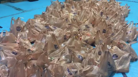 Packed lunches at Horace Mann Middle School in Charleston, West Virginia.