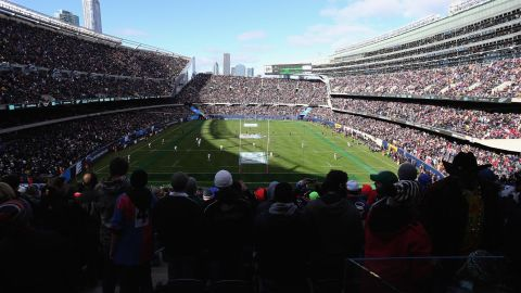 Soldier Field was also packed out when New Zealand took on USA in November 2014. The All Blacks eased to a 6-74 victory.