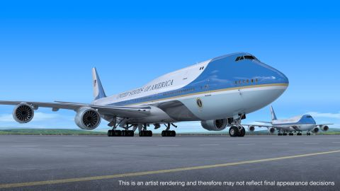 A rendering of the proposed Air Force One, provided by Boeing.