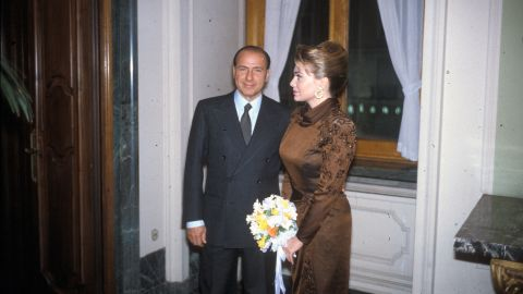 Berlusconi married his second wife, Veronica Lario, in 1990.