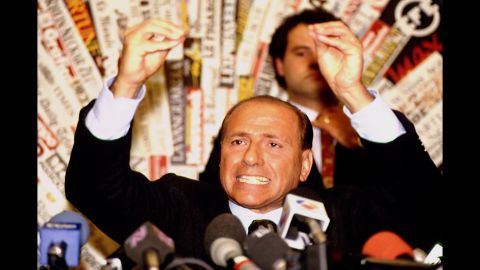 Berlusconi announced in November 1993 that he would be entering the world of politics. He started the Forza Italia party in 1994.