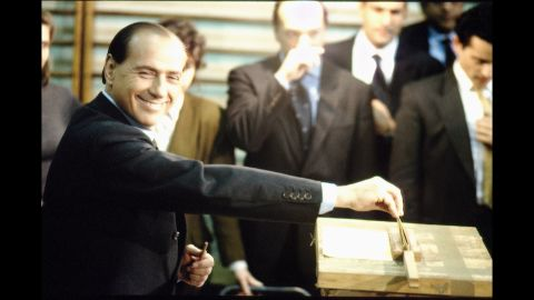 Berlusconi was elected prime minister for the first time in May 1994.