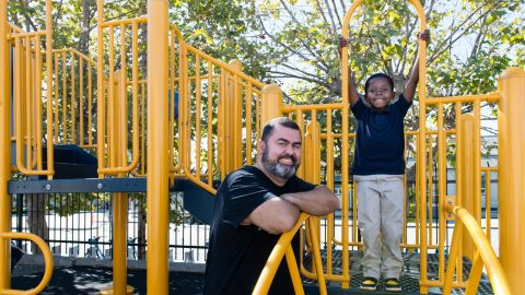 Rodney Davis became anxious and stopped wanting to go to school until he started seeing counselor JP De Oliveira. Medicaid pays for De Oliveira's work with students at Hoover Elementary School in Oakland, California.