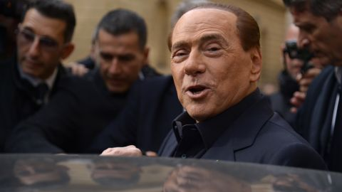 Italy's former Prime Minister Silvio Berlusconi leaves after voting for a referendum on constitutional reforms, on December 4, 2016 at a polling station in Rome. Italians began voting today in a constitutional referendum on which reformist Prime Minister Matteo Renzi has staked his future. Italy's has had 60 different governments since the constitution was approved in 1948. / AFP / Filippo MONTEFORTE        (Photo credit should read FILIPPO MONTEFORTE/AFP/Getty Images)