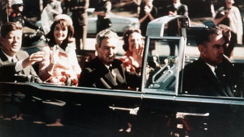 Kennedy, moments before he was assassinated.