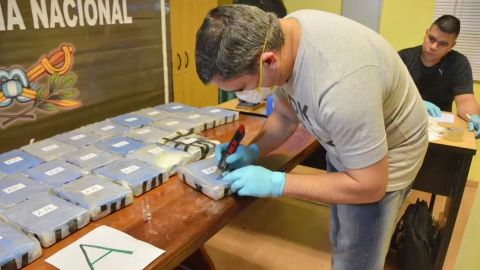 The arrest is in connection to a seizure of 389 kilograms of cocaine by Argentine police, announced last week.