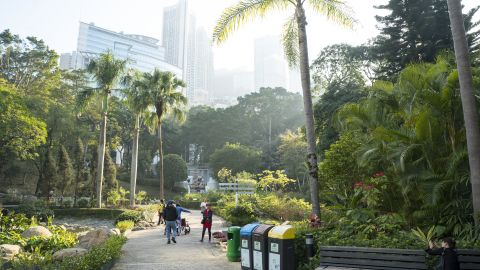 Hong Kong Park, located in the central region of Hong Kong.