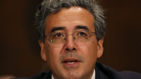 Solicitor General nominee, Noel Francisco speaks during his Senate Judiciary Committee confirmation hearing on Capitol Hill, on May 10, 2017 in Washington, DC.