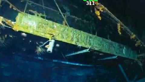 USS LEXINGTON WRECKAGE FOUND OFF AUSTRALIA'S COAST -