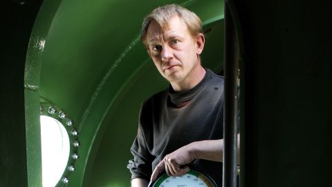 Madsen pictured inside his submarine in April 2008.