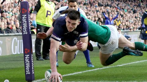 Scotland, suffering a first defeat in three games, got its sole try through wing Blair Kinghorn.