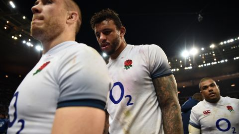 For England, things went from bad to worse. The pre-tournament favorite suffered a second loss of the campaign, going down 19-16 to France in Paris.