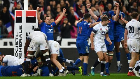 A late surge from the visitors was repelled by Les Bleus, who celebrated their second victory of this year's tournament.