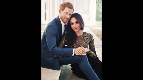 """This engagement photo <a href=""""https://www.cnn.com/2017/12/21/europe/prince-harry-meghan-markle-official-photos-intl/index.html"""" target=""""_blank"""">was released by Kensington Palace.</a>"""