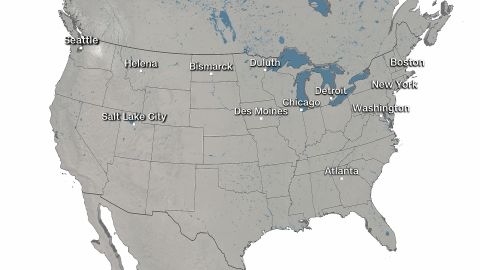 List of US cities where extreme winter weather was analyzed in the study.