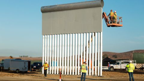 This $486,411 prototype was built by KWR Construction of Sierra Vista, Arizona. Customs and Border Protection is evaluating eight potential barriers in San Diego and may use characteristics of them in future construction along the border.