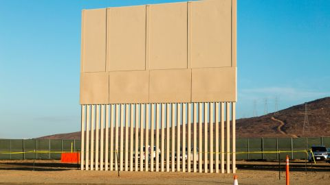 This $320,000 prototype was built by Caddell Construction Co. of Montgomery, Alabama. Customs and Border Protection is evaluating eight potential barriers in San Diego and may use characteristics of them in future construction along the border.