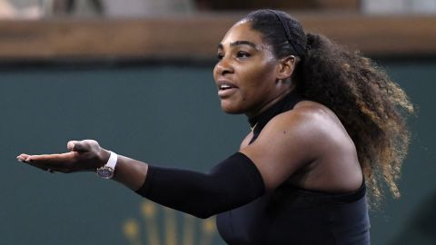 Serena, the record 23-time grand slam winner, was left frustrated. It was her first official tournament since giving birth to daughter Olympia in September.