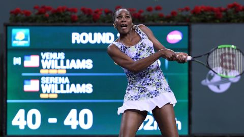Venus got off to the better start. After fending off early break points, the seven-time grand slam winner broke for 4-2.
