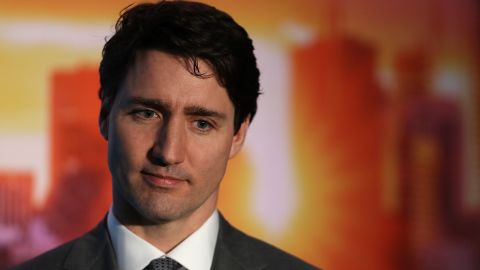 SAN FRANCISCO, CA - FEBRUARY 08:  Canada Prime Minister Justin Trudeau looks on before speaking to members of the media during a visit to AppDirect on February 8, 2018 in San Francisco, California. Trudeau is visiting several cities in the U.S.  (Photo by Justin Sullivan/Getty Images)