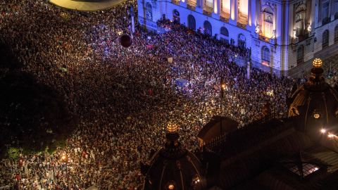 Thousands demonstrated in Rio Thursday after the killings of Marielle Franco and her driver.