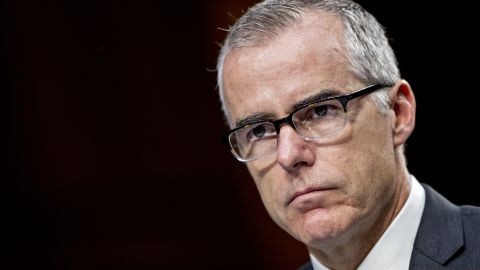 Andrew McCabe, acting director of the Federal Bureau of Investigation (FBI), listens during a Senate Intelligence Committee hearing in Washington, D.C., U.S., on Wednesday, June 7, 2017. Director of National Intelligence Daniel Coats told associates in March that U.S. President Donald Trump had asked him to intervene with then-Federal Bureau of Investigation Director James Comey to get the FBI to back off its focus on former National Security Adviser Michael Flynn and Russia probe, the Washington Post reported yesterday. Photographer: Andrew Harrer/Bloomberg via Getty Images