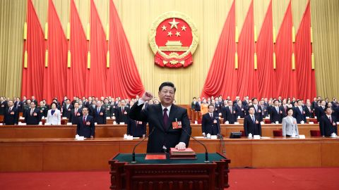 Chinese President Xi Jinping was sworn in Saturday for his second term as President.