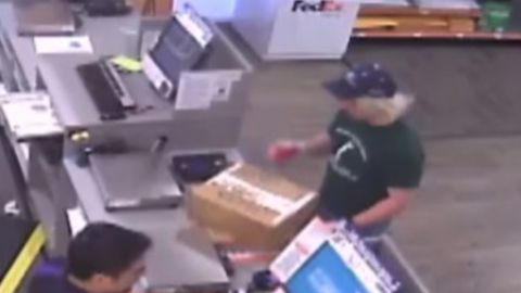 Police believe this is Mark Anthony Conditt, dropping off two suspicious packages on Sunday at a FedEx store.