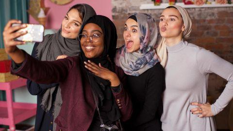 """We created stock photos of Muslim women that are shot by Muslim women, led by Muslim women, and the models are Muslim women,"" Al-Khatahtbeh told CNN."