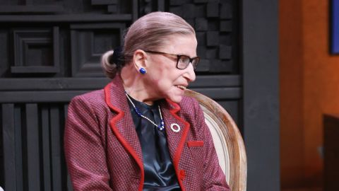 Associate Justice of the Supreme Court of the United States Ruth Bader Ginsburg speaks with Nina Totenberg during the 2018 Sundance Film Festival at Filmmaker Lodge on January 21, 2018 in Park City, Utah.