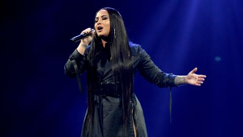 INGLEWOOD, CA - MARCH 02:  Singer Demi Lovato performs at The Forum on March 2, 2018 in Inglewood, California.  (Photo by Kevin Winter/Getty Images)