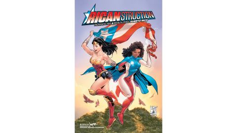 """Cover of """"Ricanstruction: Reminiscing and Rebuilding Puerto Rico."""" Artwork by Tony Daniel, Danny Miki and Tomeu Morey."""