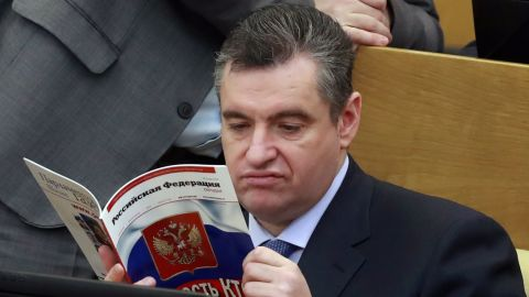 Leonid Slutsky attends a meeting of the State Duma on Wednesday.