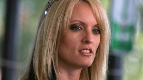 Adult-movie star Stormy Daniels stops at Rooster's Country Bar in Delhi, La. on Friday, July 3, 2009 for the last leg of her statewide listening tour. Daniels is considering challenging Sen. David Vitter, R-La. in a possible run for U.S. Senate. (AP Photo/The News-Star, Arely D. Castillo)