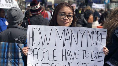Abigail Ramos marches in Washington.