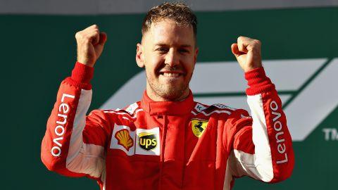 Vettel -- 25 points<br />Hamilton -- 18 points<br />Raikonnen -- 15 points