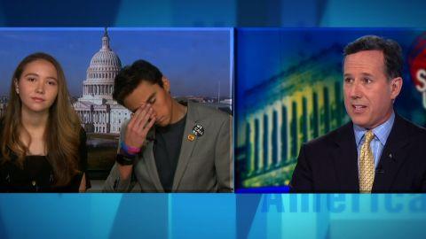 David and Lauren Hogg Santorum reax