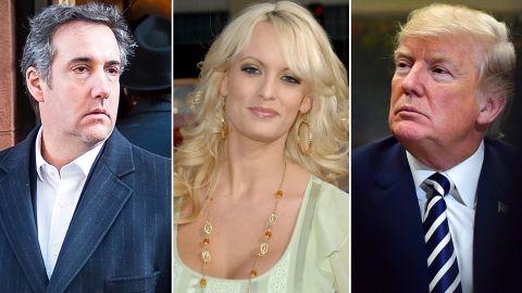 Michael Cohen, Stormy Daniels and Donald Trump