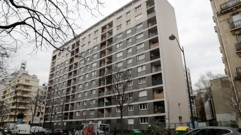 The apartment block in the 11th arrondisement of Paris where Mireille Knoll lived.